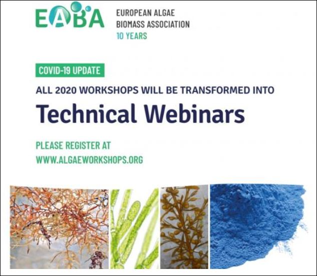 European Algae Biomass Association – upcoming webinars
